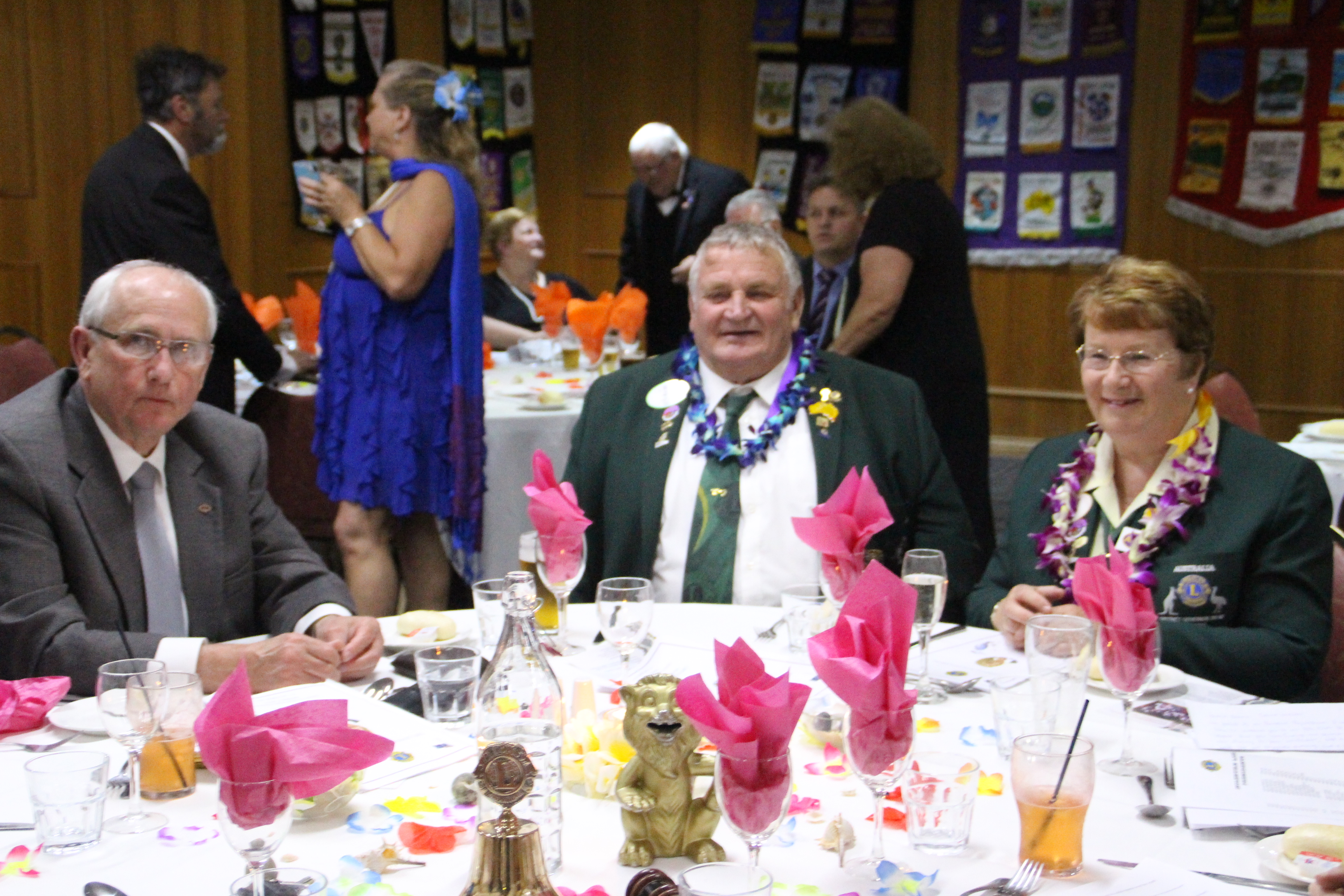 District Governor Sally Wilton, with her husband Lion Stan Wilton and Campbelltown Mayor, Lion Paul Hawker